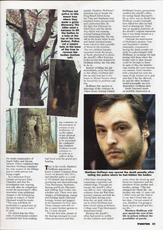 Park-Life: Serial Killer Hides Bodies in Tree, 2012